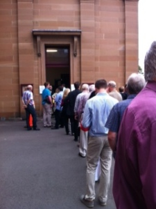 Courtwatchers queue to hear Simon Gittany sentenced for murder